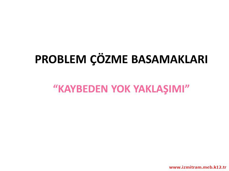 PROBLEM ÇÖZME BASAMAKLARI KAYBEDEN YOK YAKLAŞIMI www.izmitram.meb.k12.tr