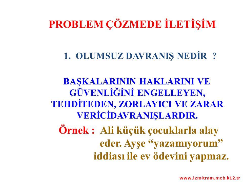 ÇOCUKLAR VE GENÇLER NİÇİN OLUMSUZ DAVRANIR ? www.izmitram.meb.k12.tr