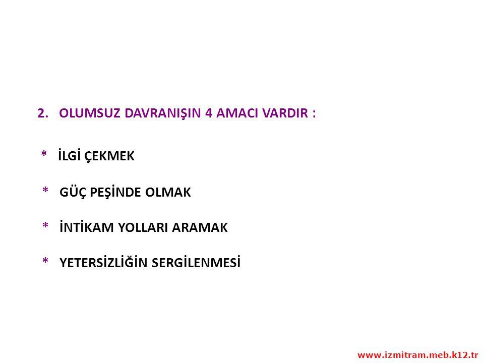 1.BASAMAK ÖNCELİKLE PROBLEMİN KİME AİT OLDUĞUNU TESBİT EDİN www.izmitram.meb.k12.tr