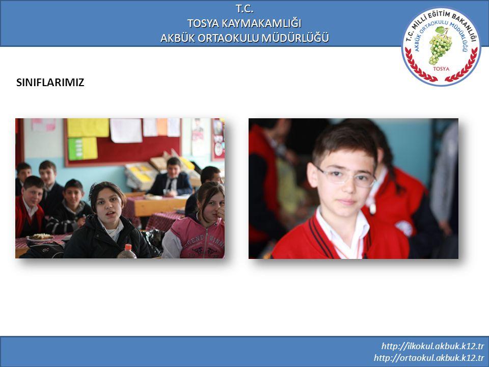 http://ilkokul.akbuk.k12.tr http://ortaokul.akbuk.k12.tr T.C. TOSYA KAYMAKAMLIĞI AKBÜK ORTAOKULU MÜDÜRLÜĞÜ SINIFLARIMIZ