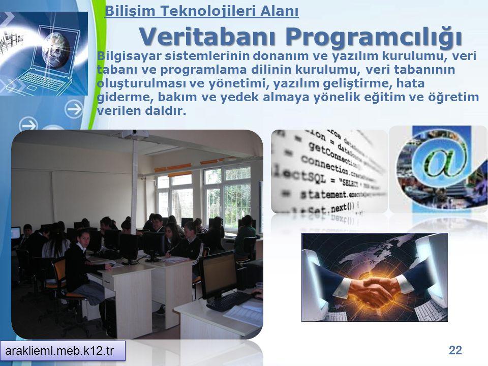 Powerpoint Templates 21 Bilişim Teknolojileri Alanı Bilgisayar Teknik Servisi Bilgisayar sistemlerinin donanım ve yazılımı, kurulumu, bakım ve arıza g
