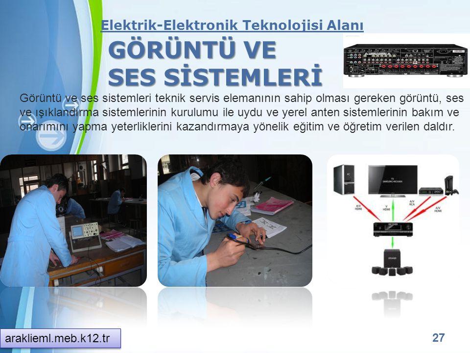 Powerpoint Templates 26 Elektrik-Elektronik Teknolojisi Alanı ELEKTRİK TESİSATLARI VE PANO MONTÖRLÜĞÜ Elektrik tesisatları ve pano montörlüğü meslek e