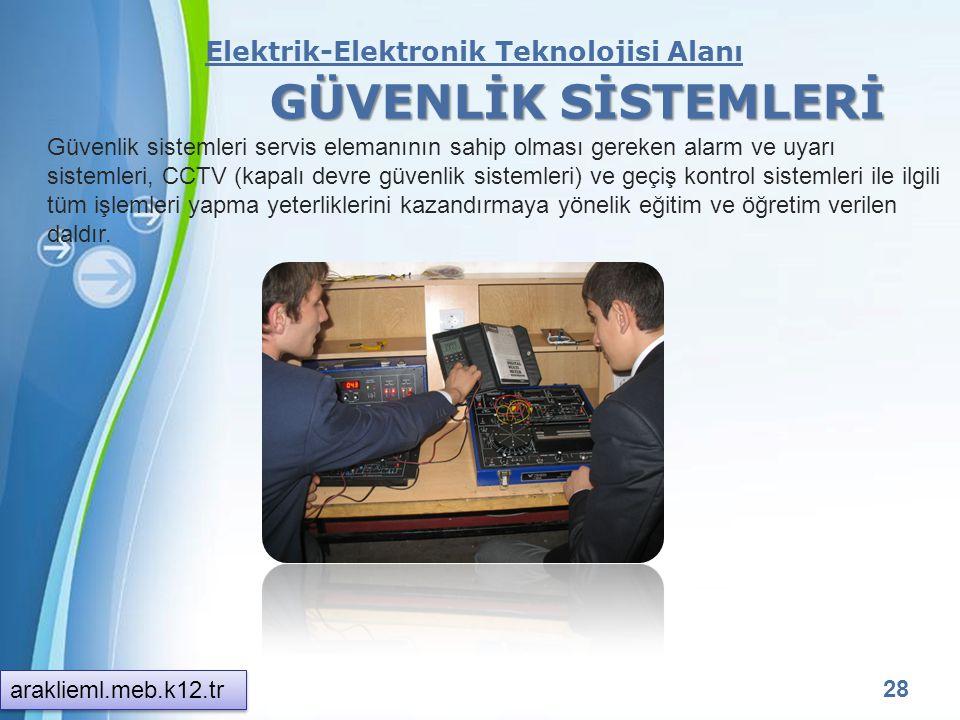 Powerpoint Templates 27 Elektrik-Elektronik Teknolojisi Alanı GÖRÜNTÜ VE SES SİSTEMLERİ Görüntü ve ses sistemleri teknik servis elemanının sahip olmas