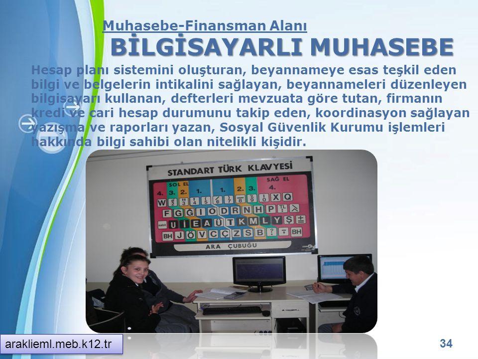 Powerpoint Templates 33 Muhasebe-Finansman Alanı Muhasebe ve Finansman alanı altında yer alan mesleklerde sektörlerin ihtiyaçları, bilimsel ve teknolo