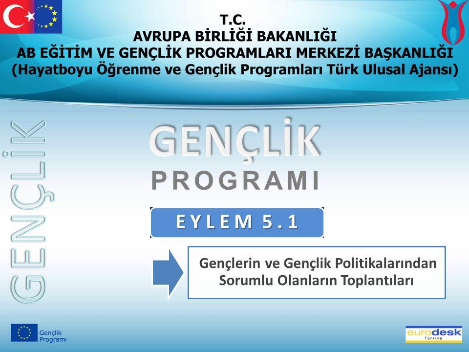 E Y L E M 5. 1 Gençlerin ve Gençlik Politikalarından Sorumlu Olanların Toplantıları PROGRAMI