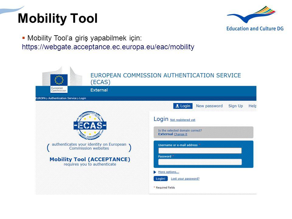 26 Mobility Tool Bütçe girişi
