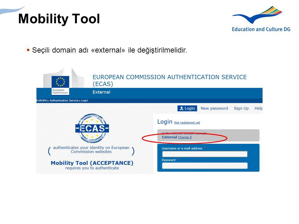 7 Mobility Tool  Seçili domain adı «external» ile değiştirilmelidir.