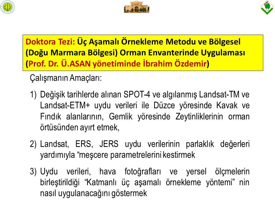 Doktora Tezi: Üç Aşamalı Örnekleme Metodu ve Bölgesel (Doğu Marmara Bölgesi) Orman Envanterinde Uygulaması (Prof.