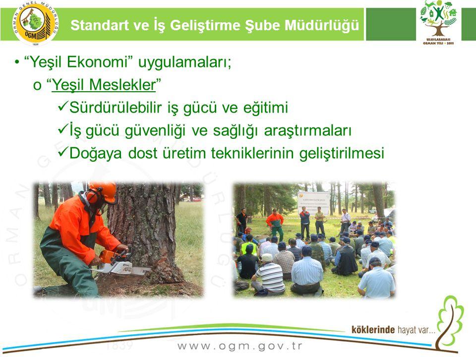 """16/12/2010 Kurumsal Kimlik 10 """"Yeşil Ekonomi"""" uygulamaları; o """"Yeşil Meslekler"""" Sürdürülebilir iş gücü ve eğitimi İş gücü güvenliği ve sağlığı araştır"""