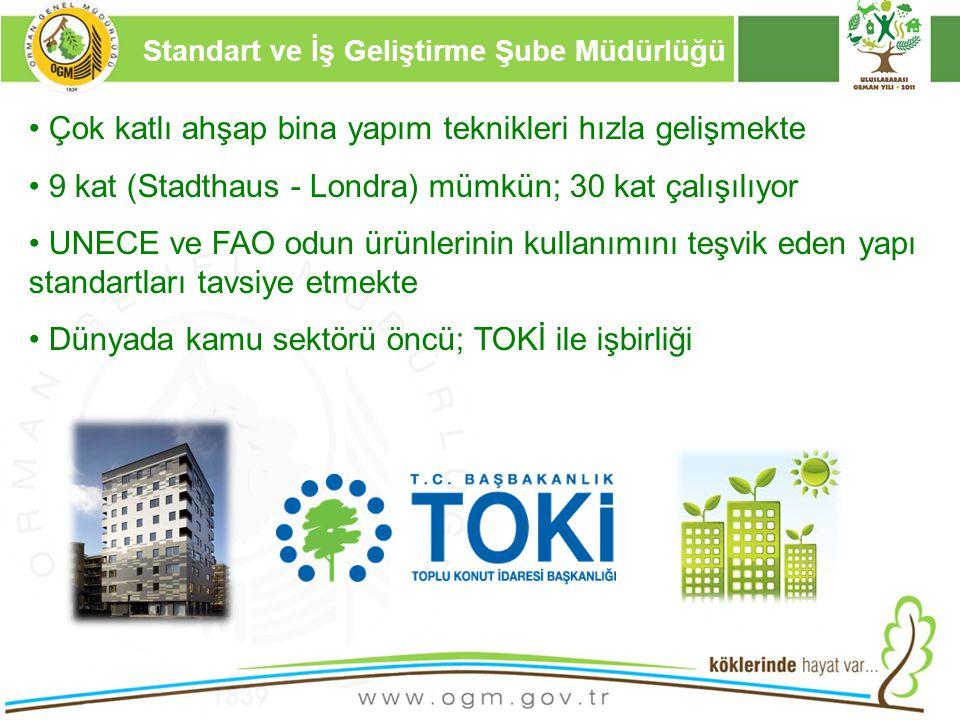 16/12/2010 Kurumsal Kimlik 15 Çok katlı ahşap bina yapım teknikleri hızla gelişmekte 9 kat (Stadthaus - Londra) mümkün; 30 kat çalışılıyor UNECE ve FA