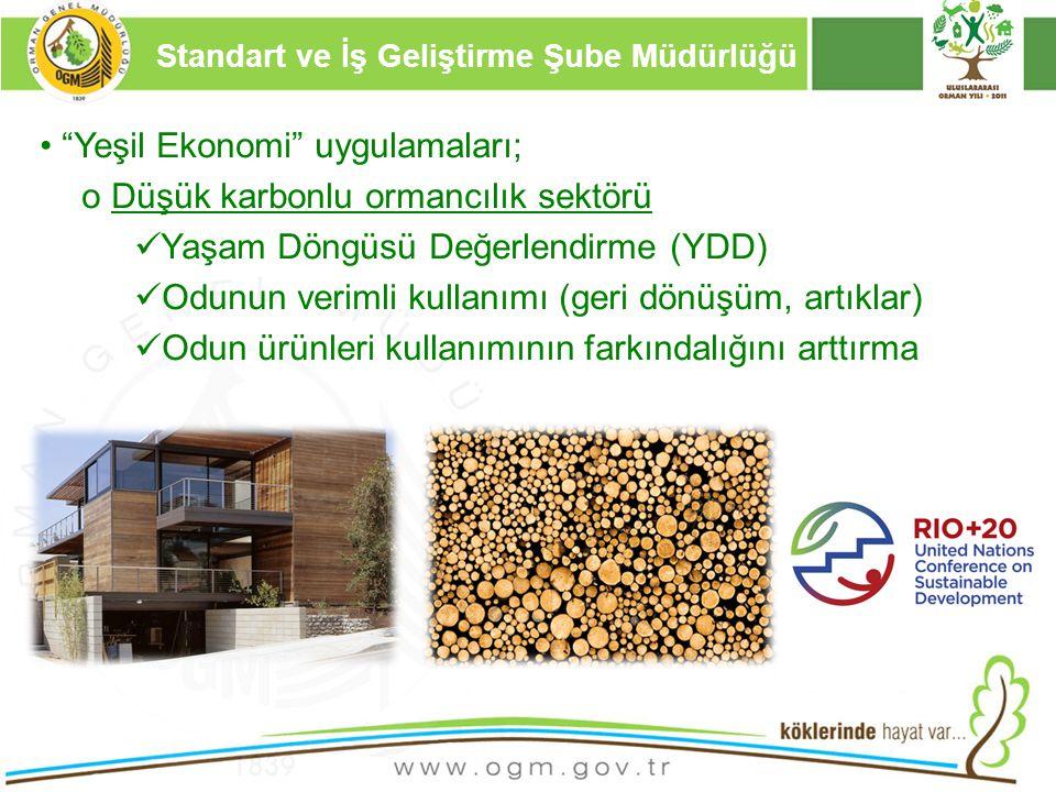 """16/12/2010 Kurumsal Kimlik 9 """"Yeşil Ekonomi"""" uygulamaları; o Düşük karbonlu ormancılık sektörü Yaşam Döngüsü Değerlendirme (YDD) Odunun verimli kullan"""