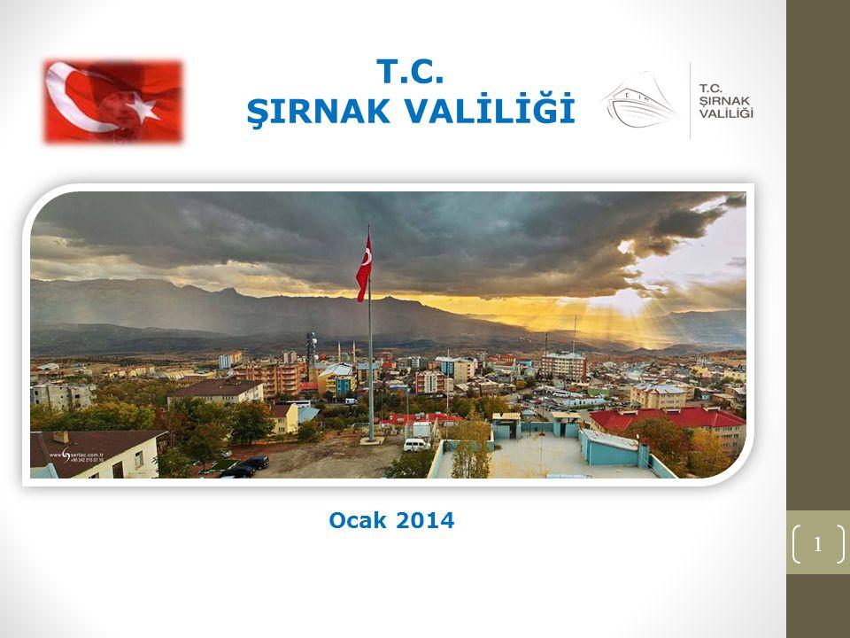 1 T.C. ŞIRNAK VALİLİĞİ Ocak 2014
