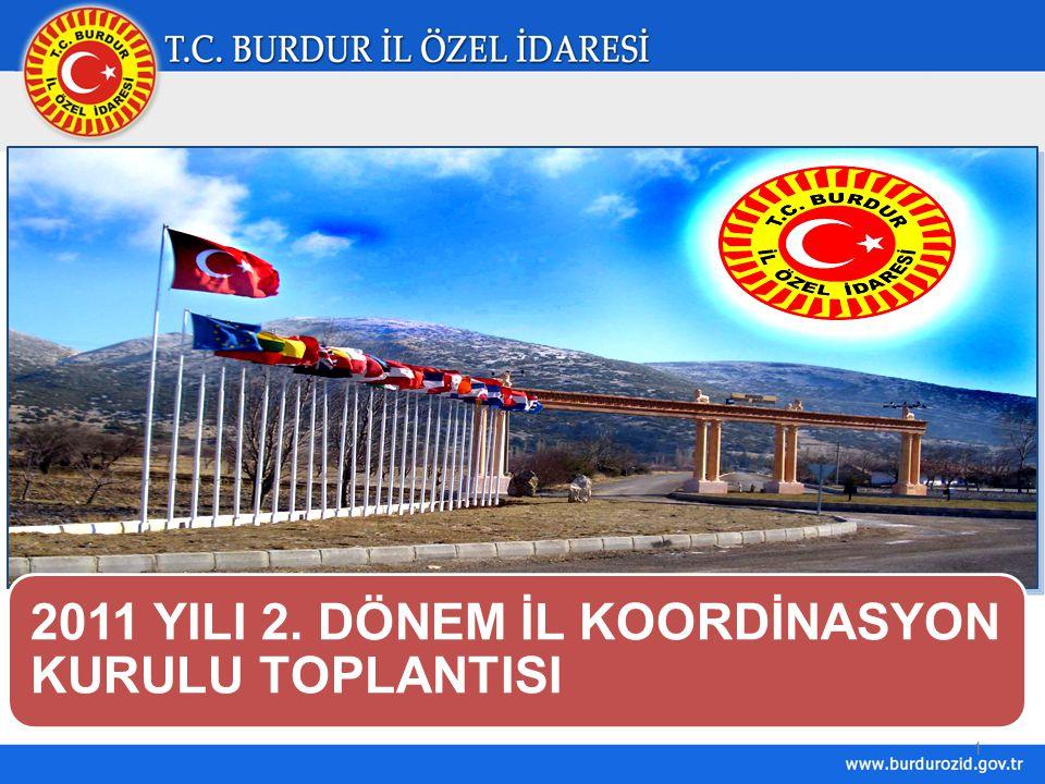 1 2011 YILI 2. DÖNEM İL KOORDİNASYON KURULU TOPLANTISI