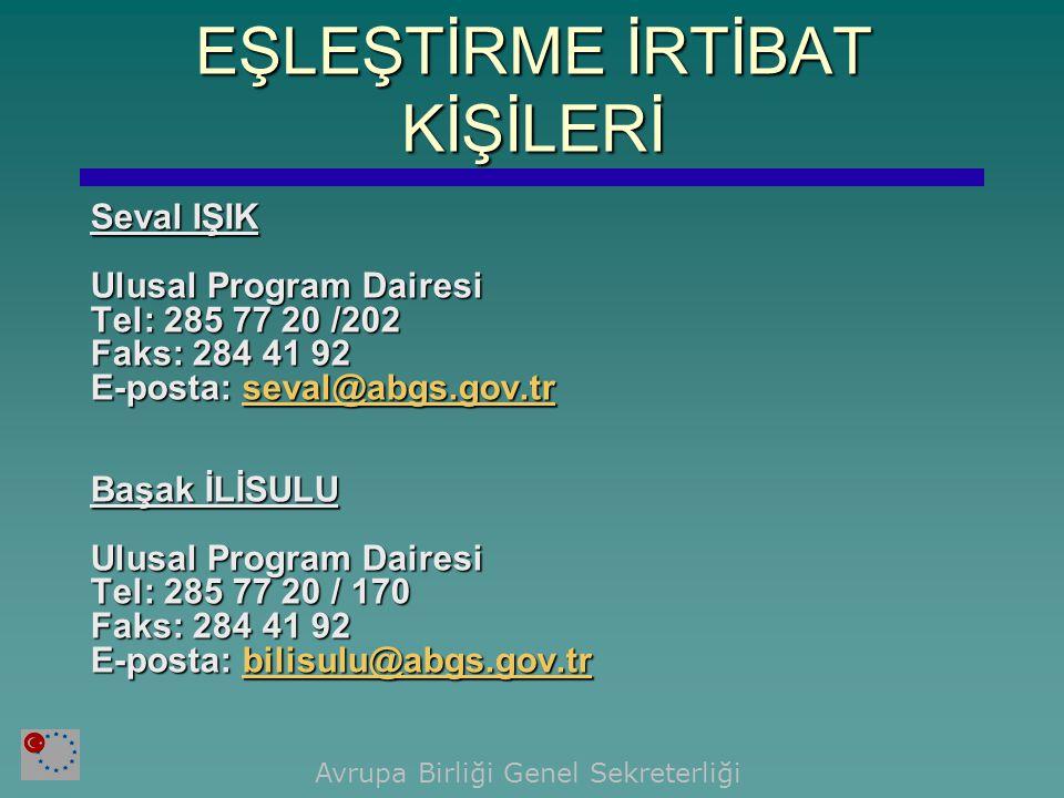 Seval IŞIK Ulusal Program Dairesi Tel: 285 77 20 /202 Faks: 284 41 92 E-posta: seval@abgs.gov.tr seval@abgs.gov.tr Başak İLİSULU Ulusal Program Daires