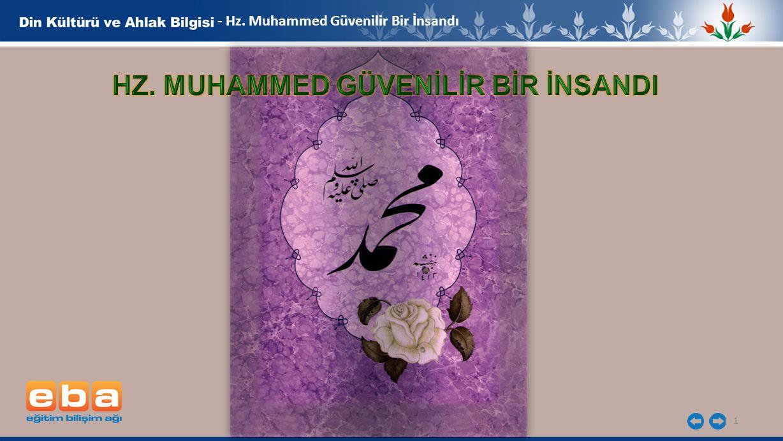 1 - Hz. Muhammed Güvenilir Bir İnsandı