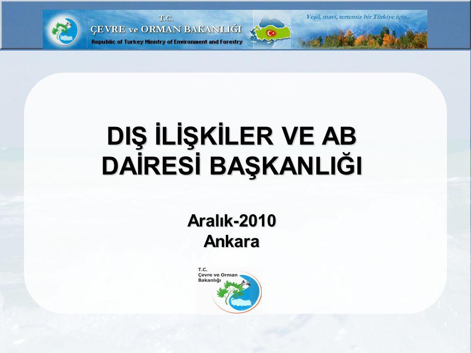 TEŞKİLAT ŞEMASI T.C. Çevre ve Orman Bakanlığı GENEL