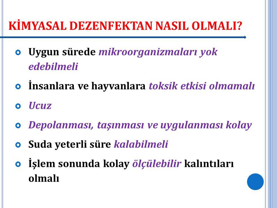 DEZENFEKSİYON YAN ÜRÜNLERİ-KANSER.