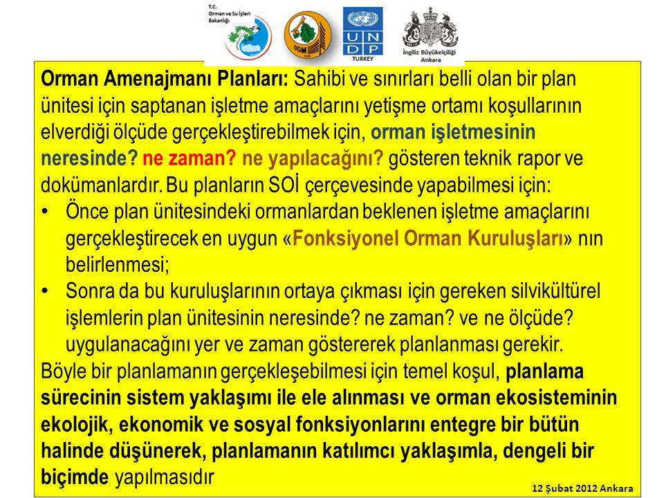 05.02.2008 tarihinde yürürlüğe giren yeni amenajman yönetmeliği, amenajman planlarının SOİ ilkelerine uygun olarak Ekosistem Tabanlı Fonksiyonel Planlama (ETFOP) yaklaşımı ile hazırlanmasını öngörmektedir (Md.4).