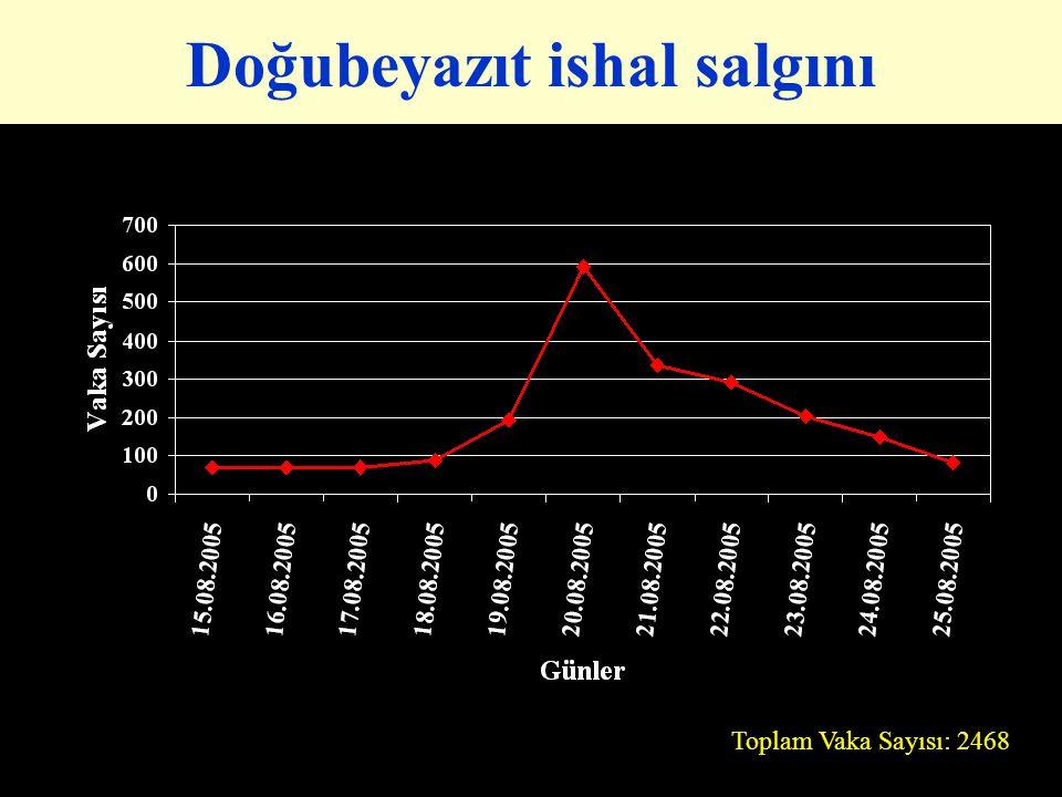 Doğubeyazıt ishal salgını Toplam Vaka Sayısı: 2468