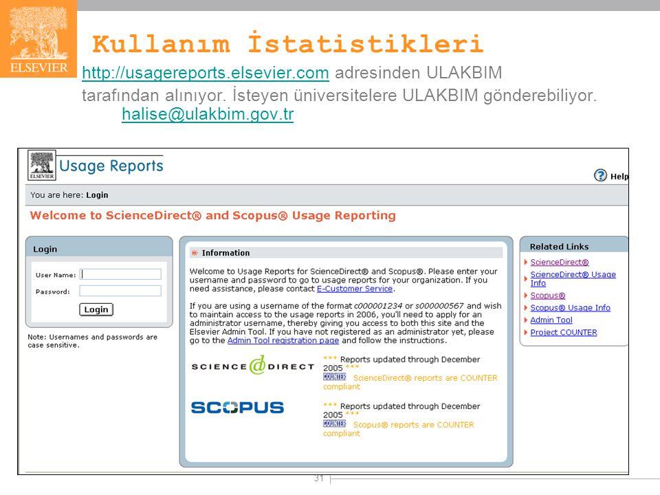 31 Kullanım İstatistikleri http://usagereports.elsevier.comhttp://usagereports.elsevier.com adresinden ULAKBIM tarafından alınıyor.