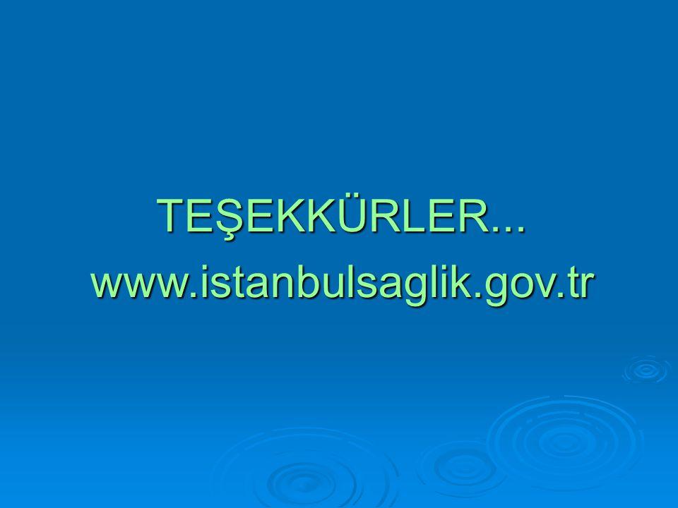 TEŞEKKÜRLER...www.istanbulsaglik.gov.tr