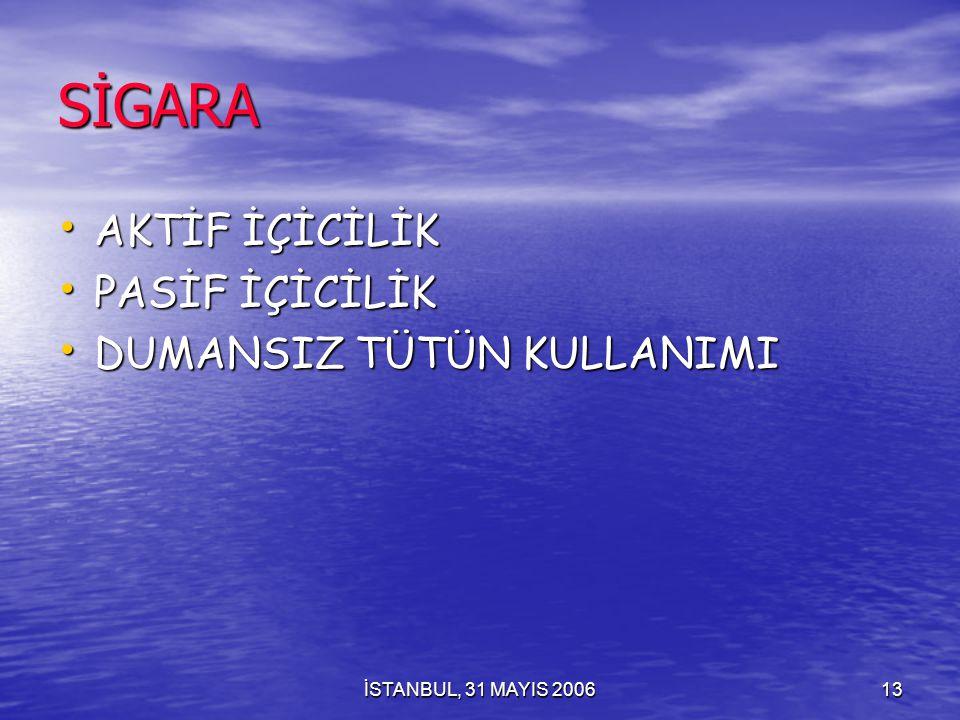 İSTANBUL, 31 MAYIS 200612 Öncesinde Sigara Kullanmayan Uyuşturucu Kurbanı YOKTUR
