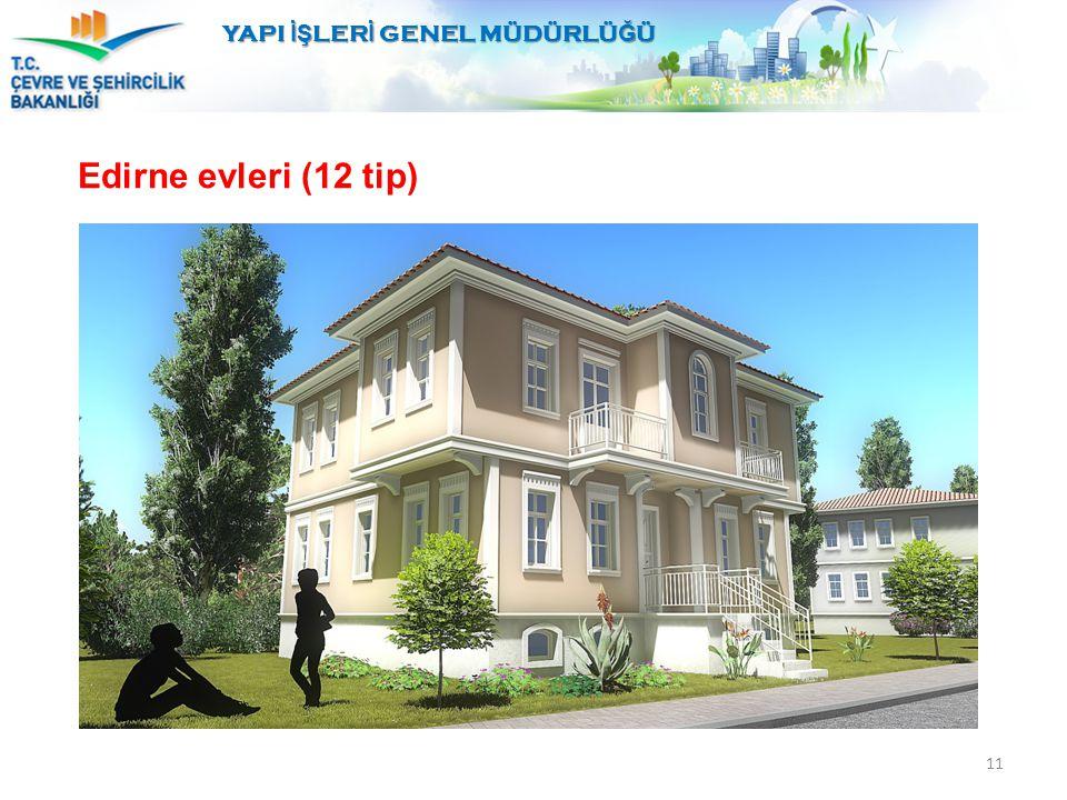 YAPI İŞ LER İ GENEL MÜDÜRLÜ Ğ Ü 11 Edirne evleri (12 tip)