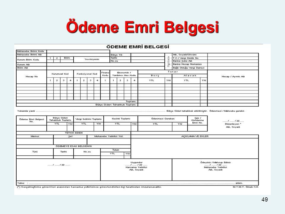 Ödeme Emri Belgesi 49