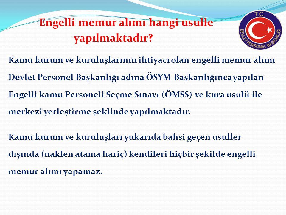 Engelli Kamu Personel Seçme Sınavı (EKPSS) nedir.