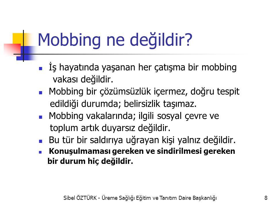 Mobbing ne değildir? İş hayatında yaşanan her çatışma bir mobbing vakası değildir. Mobbing bir çözümsüzlük içermez, doğru tespit edildiği durumda; bel