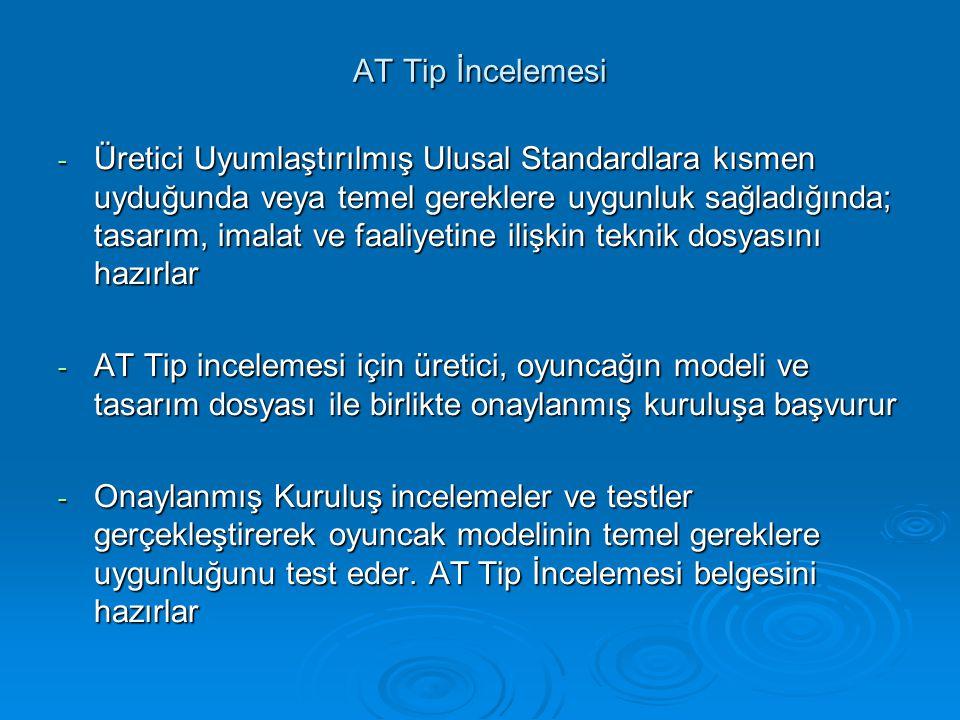 AT Tip İncelemesi - Üretici Uyumlaştırılmış Ulusal Standardlara kısmen uyduğunda veya temel gereklere uygunluk sağladığında; tasarım, imalat ve faaliy