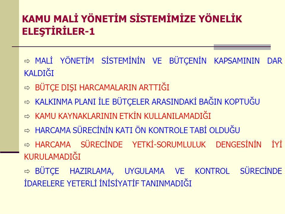 5018 sayılı Kanun Madde-18 Merkezî yönetim bütçe kanun tasarısına, Türkiye Büyük Millet Meclisinde görüşülmesi sırasında dikkate alınmak üzere; e) Genel yönetim kapsamındaki kamu idarelerinin son iki yıla ait bütçe gerçekleşmeleri (kesin hesap) ile izleyen iki yıla ait gelir ve gider tahminleri, f) Mahallî idareler ve sosyal güvenlik kurumlarının bütçe tahminleri, eklenir.