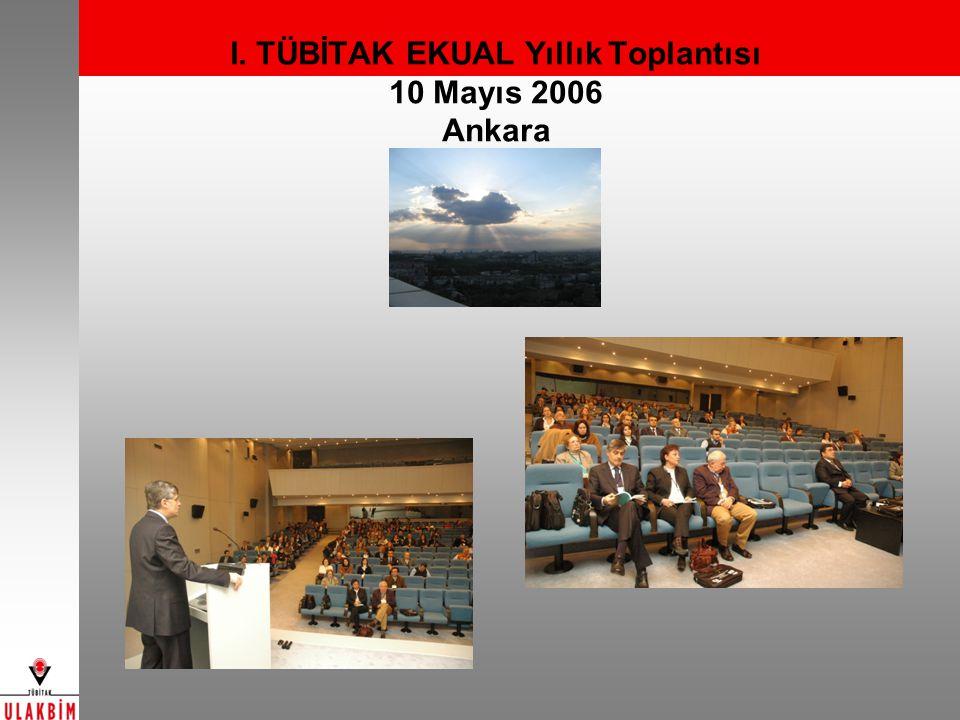 I. TÜBİTAK EKUAL Yıllık Toplantısı 10 Mayıs 2006 Ankara