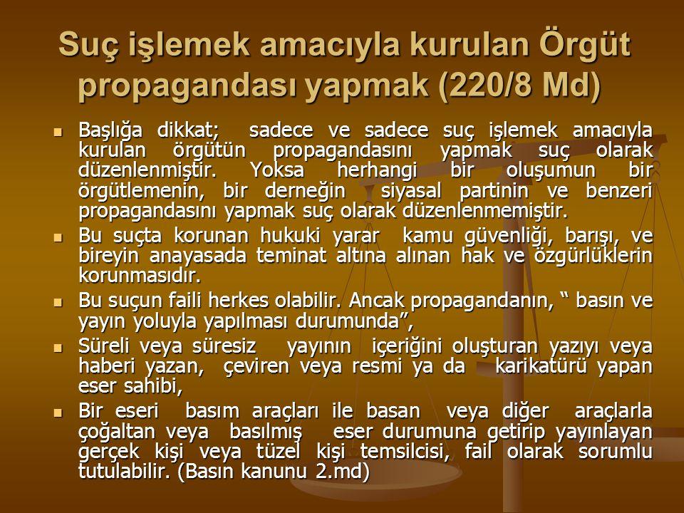 Etkin Pişmanlık (221 Mad) Etkin Pişmanlık (221 Mad) YTCK 221 Madde açık düzenleme yapılmıştır.