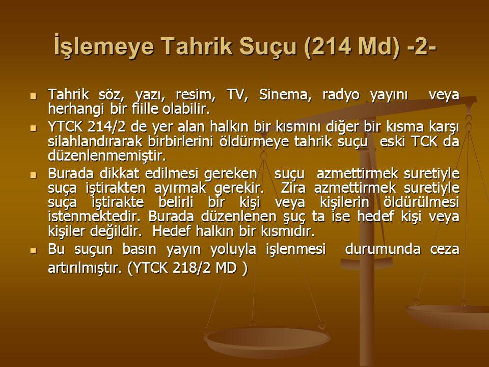 Suçu Ve Suçluyu Övme (215 Md) 765 Sayılı TCK NIN 312/1 Maddesi karşılığında düzenlenmiştir.