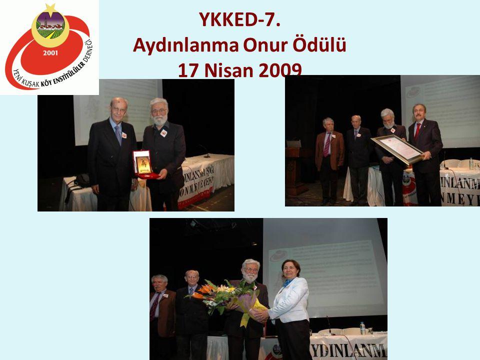 YKKED-7. Aydınlanma Onur Ödülü 17 Nisan 2009