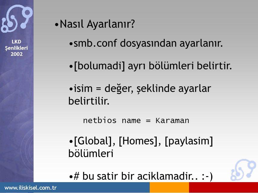 LKD Şenlikleri 2002 www.iliskisel.com.tr Nasıl Ayarlanır.