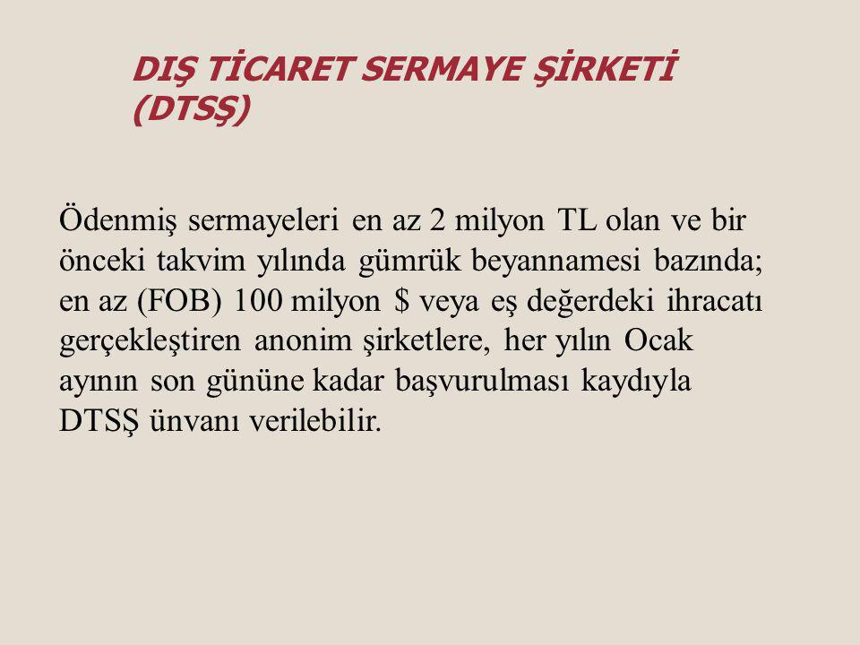 İhracata Yönelik Devlet Yardımları Pazar Araştırması ve Pazarlama Desteği Yurtdışında Gerçekleştirilen Fuar Katılımlarının Desteklenmesi Çevre Maliyetlerinin Desteklenmesi Yurt Dışı Birim, Marka ve Tanıtım Faaliyetlerinin Desteklenmesi Türk Ürünlerinin Yurtdışında Markalaşması, Türk Malı İmajının Yerleştirilmesi ve TURQUALITY'nin Desteklenmesi