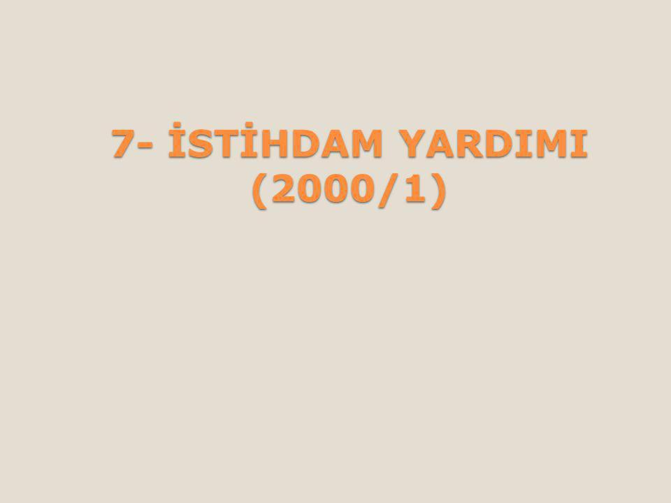 7- İSTİHDAM YARDIMI (2000/1)