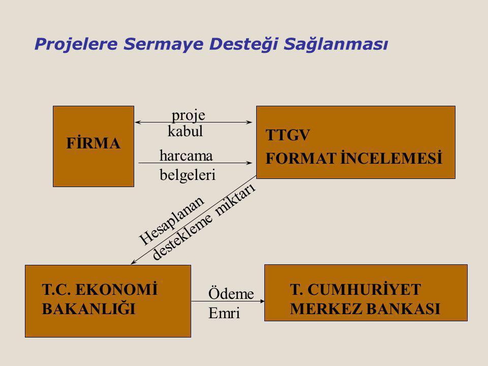 TTGV FORMAT İNCELEMESİ FİRMA proje T.C.EKONOMİ BAKANLIĞI T.