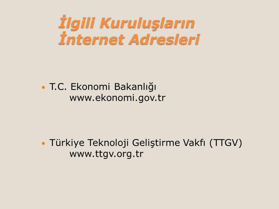 İlgili Kuruluşların İnternet Adresleri T.C.