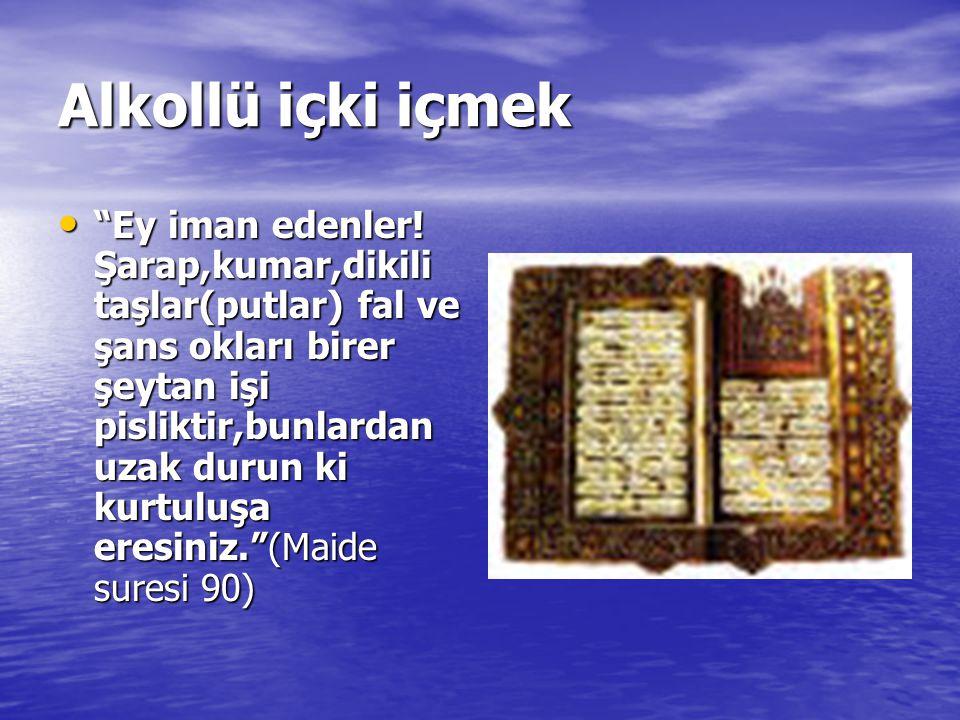 Uyuşturucu kullanmak İslamın emir ve yasaklarındaki genel amaçları dikkate alındığında islamın bu konudaki yasağını sadece içkiye veya belirli alkollü içkilere mahsus olmadığını,akli ve ruhi dengeyi bozan,sinir sistemini uyuşturup beynin işlevlerini etkileyen,kişinin irade ve düşünme gücünü tamamen veya kısmen yok eden her türlü keyif verici uyuşturucunun da aynı yasak kapsamına girdiği görülür.