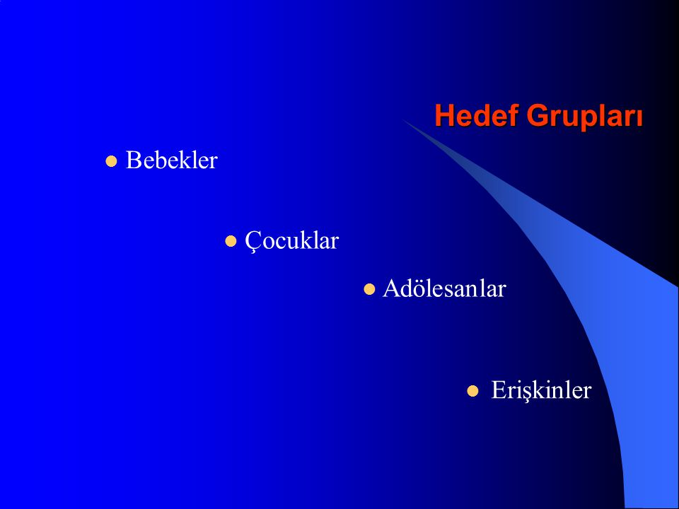 Hemophilus influenzae tip b, 1986 Yaş gruplarına göre İnsidans