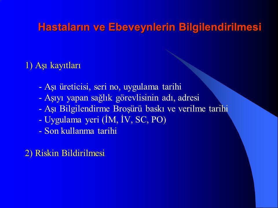 Türkiye'de Uygulanan Aşı Takvimi (T.C.Sağlık Bakanlığı) 0.