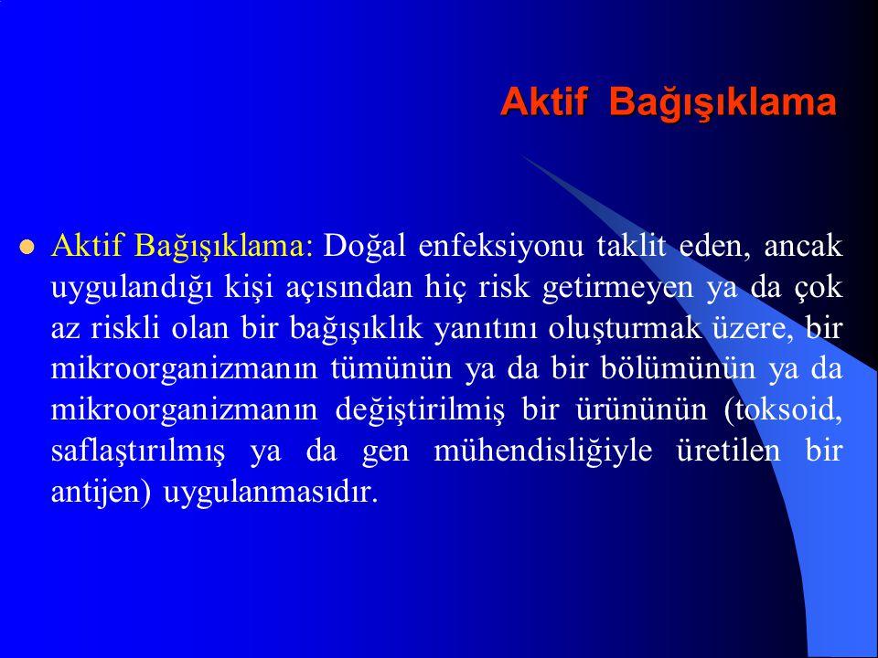 Hepatit A - Yaşa Göre Anti-HAV Seroprevelansı Alhan, Yapıcıoğlu, Bozdemir ve ark.