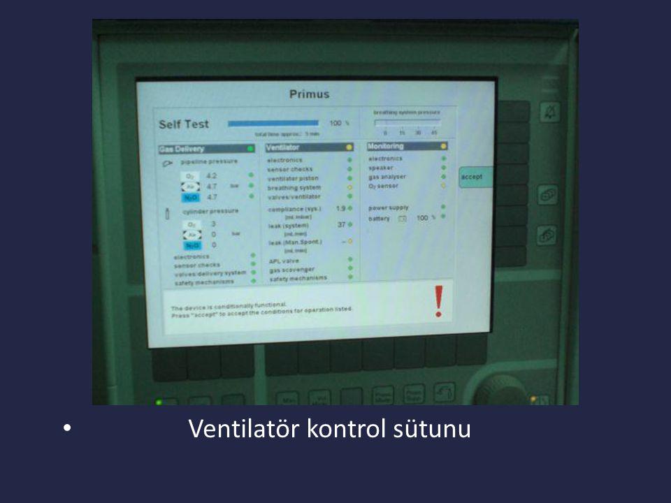 Ventilatör kontrol sütunu