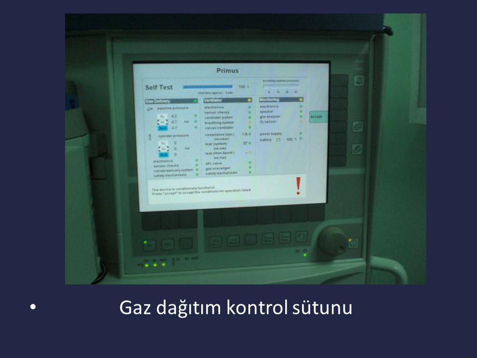 Anestezi Cihazı Kullanılırken Dikkat Edilecek Noktalar Cihazın otomatik test işlemi tamamlandıktan sonra cihaz ve monitör bileşenleri kontrol edilmelidir.