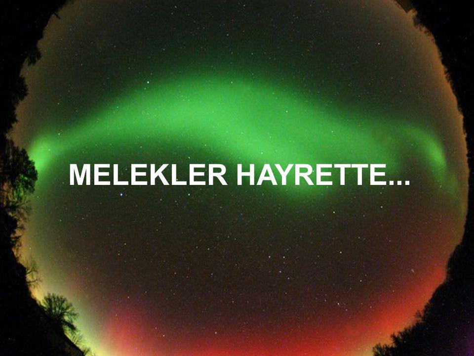 MELEKLER HAYRETTE...