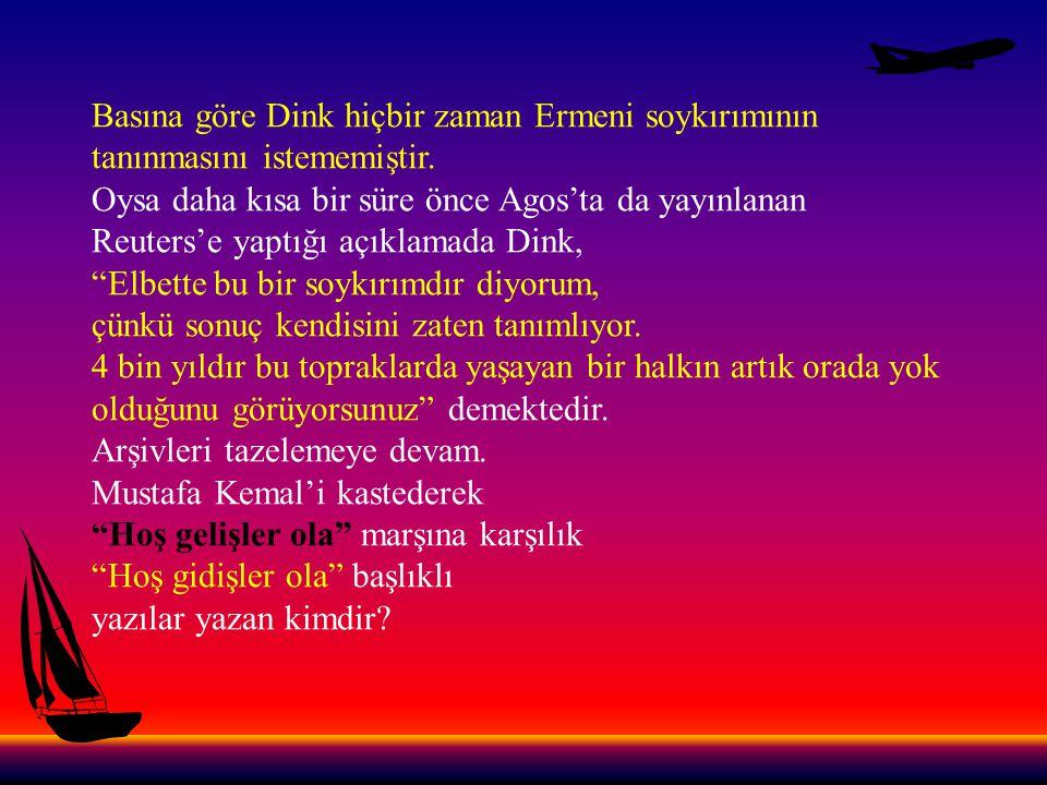 Devlet içindeki Türk düşmanı örgütlenme Dink cinayetinden hemen sonra ortaya çıkan tablo bizzat devlet içinde devlete düşman bir çete kurulduğunu da göstermektedir.