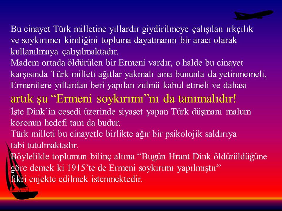 PKK'ya verdiğimiz şehitlere 3 cm Hrant Dink'e tam sayfa....